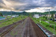 Абстрактная железнодорожная предпосылка Стоковые Изображения RF