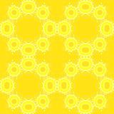 Абстрактная желтая безшовная предпосылка, повторяя картину Стоковые Изображения