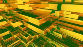 Абстрактная желтая и зеленая предпосылка Стоковые Изображения RF