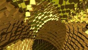 Абстрактная желтая и коричневая предпосылка Стоковые Фотографии RF