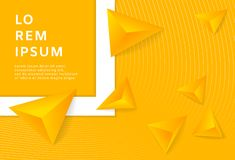 Абстрактная желтая предпосылка с треугольником 3D самомоднейшие обои также вектор иллюстрации притяжки corel иллюстрация штока