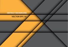 Абстрактная желтая серая линия вектор предпосылки дизайна текстуры тени современный футуристический Стоковая Фотография RF
