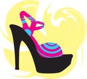 абстрактная женщина ботинка иллюстрация вектора