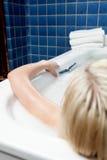 Абстрактная женщина в ванне Стоковое Изображение RF