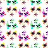абстрактная женщина портрета экран имитации способа компьютера предпосылки стоковое изображение rf