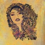 абстрактная женщина портрета grunge Стоковое фото RF