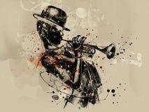 абстрактная женщина стороны Мода Grunge Стоковая Фотография