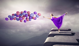 абстрактная женщина inc иллюстрации танцы Стоковые Фото