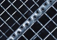 Абстрактная железная рогожка лестницы стоковые фотографии rf