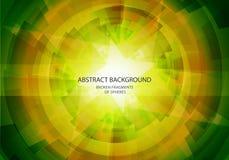 Абстрактная желтая и зеленая предпосылка вектора Стоковые Изображения RF