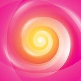 Абстрактная желтая розовая предпосылка свирли Стоковое Изображение RF
