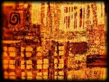 Абстрактная желтая текстура ткани Стоковое Изображение RF