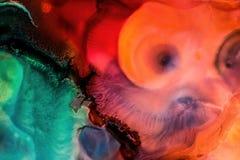 Абстрактная жидкостная картина с текстурой Стоковая Фотография