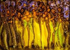 Абстрактная жидкостная картина с текстурой Стоковые Фотографии RF