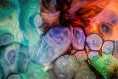 Абстрактная жидкостная картина с текстурой Стоковое фото RF