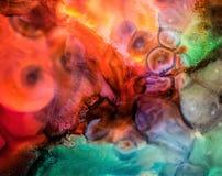 Абстрактная жидкостная картина с текстурой Стоковые Фото