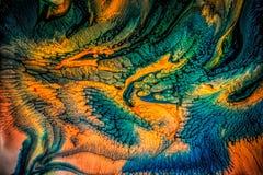 Абстрактная жидкостная картина с текстурой Стоковые Изображения