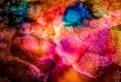 Абстрактная жидкостная картина с текстурой Стоковое Фото