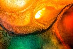 Абстрактная жидкостная картина с текстурой Стоковая Фотография RF