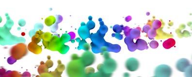 Абстрактная жидкость падает предпосылка Стоковая Фотография