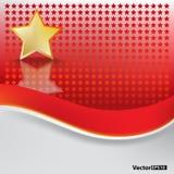 абстрактная звезда золота предпосылки Стоковое Фото