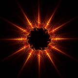 абстрактная звезда пламени Стоковая Фотография