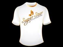 абстрактная звезда супер t рубашки Стоковые Фотографии RF