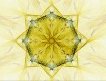 абстрактная звезда фрактали предпосылки иллюстрация вектора