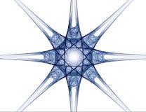 абстрактная звезда фрактали иллюстрация штока