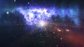 Абстрактная звезда на красивом межзвёздном облаке Стоковое Фото