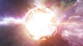 Абстрактная звезда на красивом межзвёздном облаке Стоковое фото RF