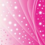 абстрактная звезда пинка предпосылки Стоковое Изображение