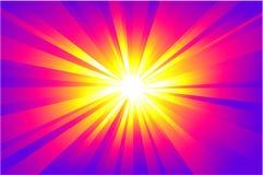 абстрактная звезда света предпосылки Стоковая Фотография RF