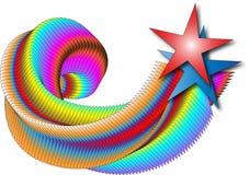 абстрактная звезда Стоковые Фото