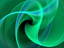 Абстрактная зеленая картина фрактали Стоковые Фотографии RF
