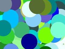 Абстрактная зеленая синь объезжает предпосылку иллюстрации Стоковое Изображение RF