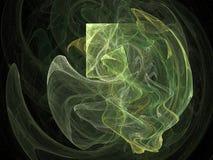 абстрактная зеленая форма Стоковые Изображения RF