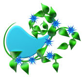 Абстрактная зеленая ветвь с листьями как украшение Стоковая Фотография RF