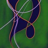 Абстрактная зеленая голубая предпосылка Стоковая Фотография