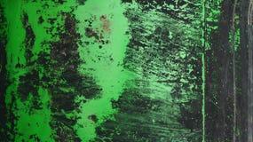 Абстрактная зеленая и черная текстура цветов на металлической пластине Стоковое Фото