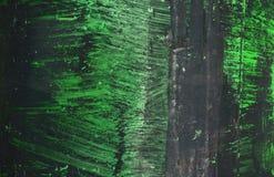 Абстрактная зеленая и черная текстура цветов на металлической пластине Стоковая Фотография RF