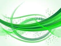 Абстрактная зеленая иллюстрация волн-вектора Стоковое Изображение RF