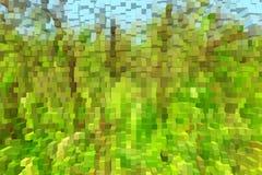 Абстрактная зеленая картина любит взрыв Стоковая Фотография
