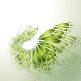 Абстрактная зеленая предпосылка с бабочкой Стоковые Изображения