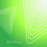 Абстрактная зеленая предпосылка с белыми треугольниками Стоковое Изображение