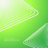 Абстрактная зеленая предпосылка с белыми треугольниками Стоковые Изображения RF