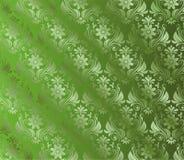 Абстрактная зеленая предпосылка с флористическим Стоковая Фотография RF