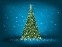 Абстрактная зеленая синь рождества на сини. EPS 10 Стоковые Фотографии RF