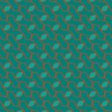 Абстрактная зеленая синь с элегантной коричневой линией предпосылкой картины Стоковые Фотографии RF