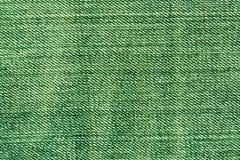 Абстрактная зеленая текстура джинсов Стоковые Фото